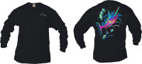 Marlin design on men black long sleeve shirt